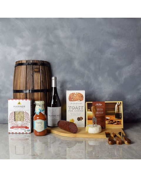 Meat, Cheese & Crackers Wine Gift Basket